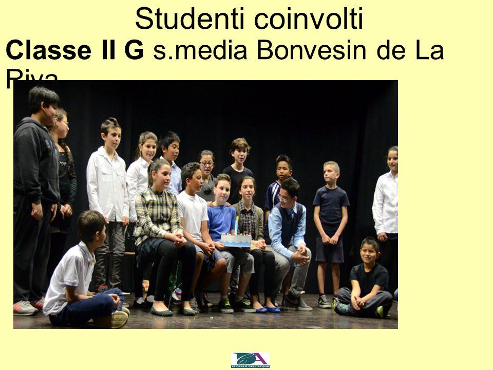 Studenti coinvolti Classe II G s.media Bonvesin de La Riva