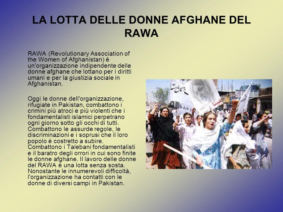 LA LOTTA DELLE DONNE AFGHANE DEL RAWA