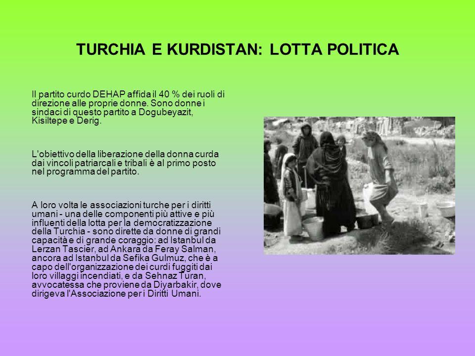 TURCHIA E KURDISTAN: LOTTA POLITICA