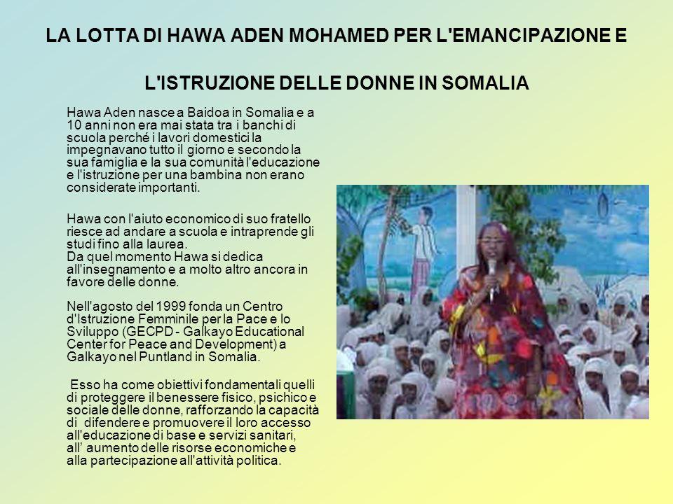 LA LOTTA DI HAWA ADEN MOHAMED PER L EMANCIPAZIONE E L ISTRUZIONE DELLE DONNE IN SOMALIA