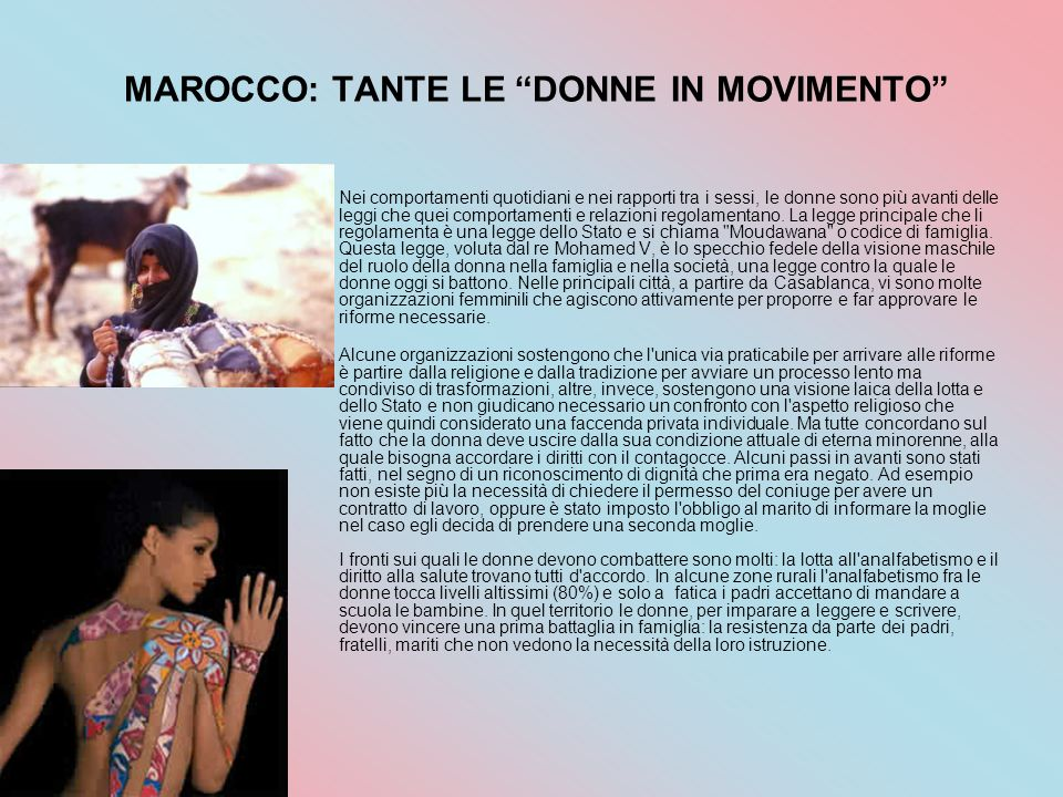 MAROCCO: TANTE LE DONNE IN MOVIMENTO