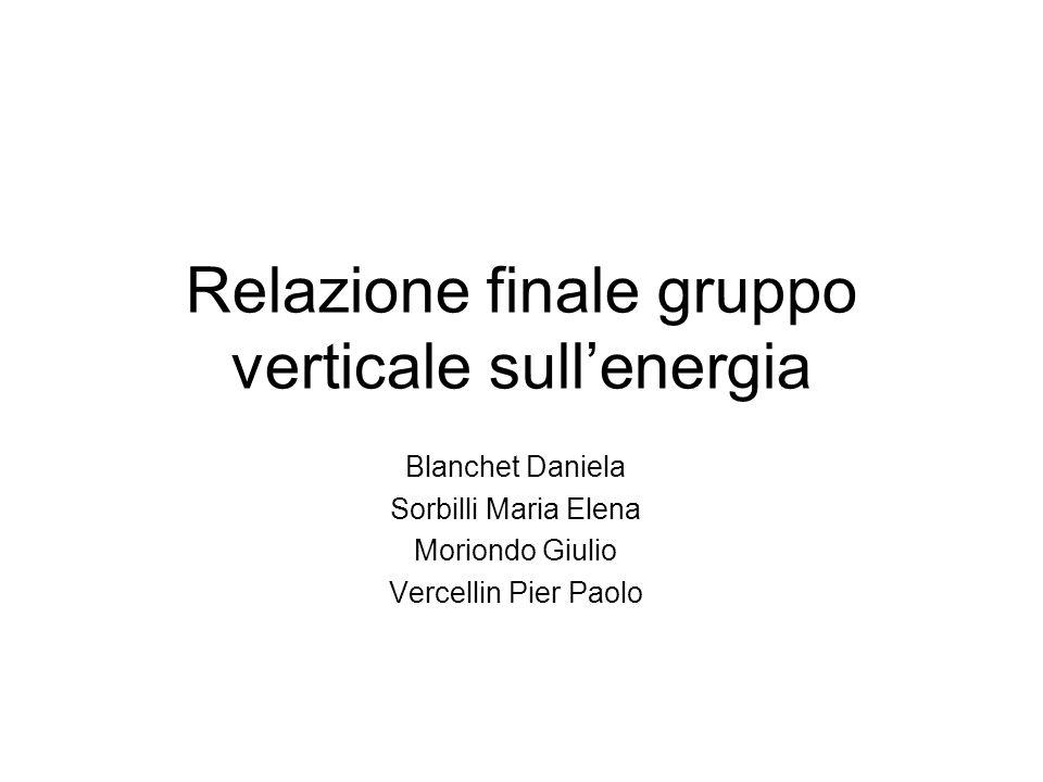 Relazione finale gruppo verticale sull'energia