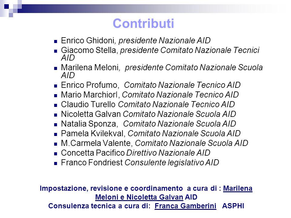 Consulenza tecnica a cura di: Franca Gamberini ASPHI