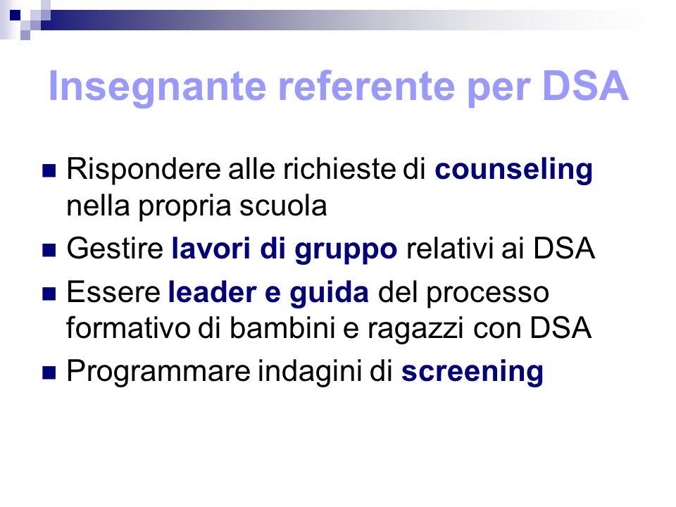 Insegnante referente per DSA