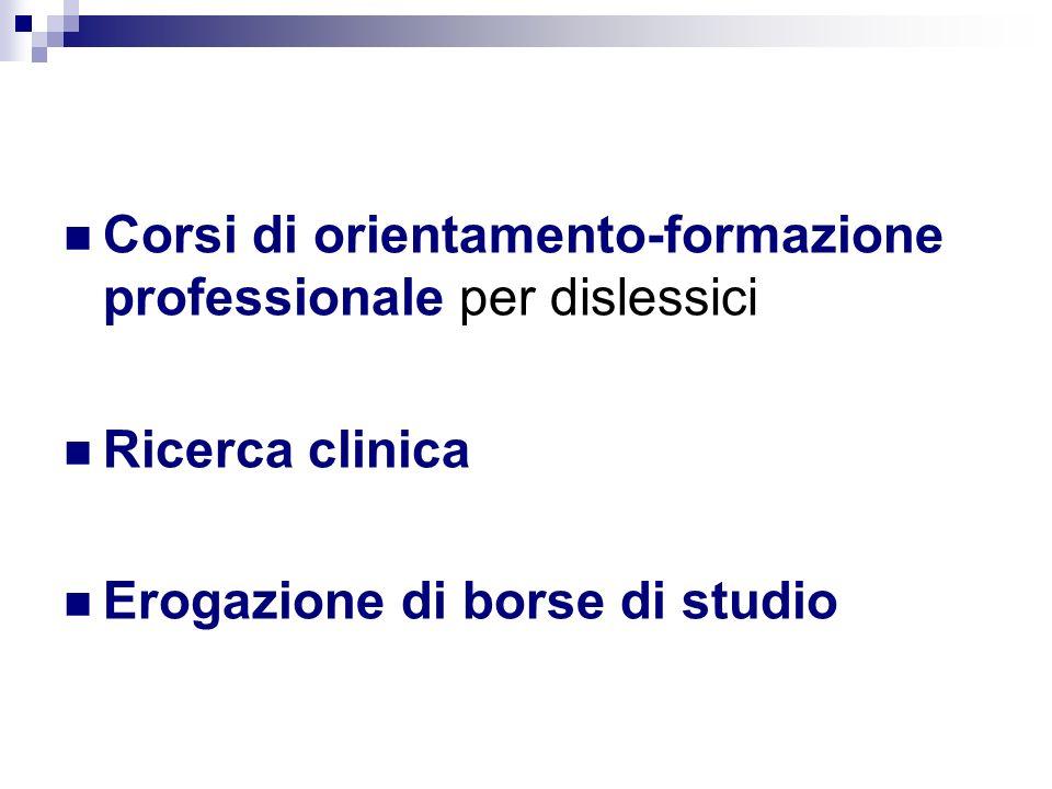 Corsi di orientamento-formazione professionale per dislessici