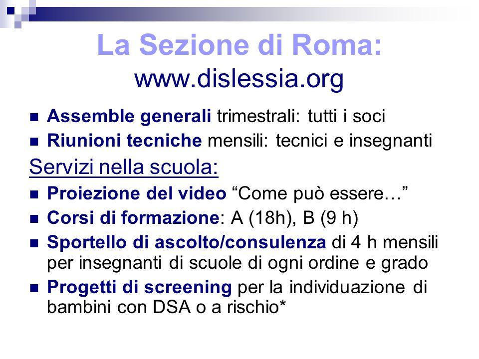 La Sezione di Roma: www.dislessia.org