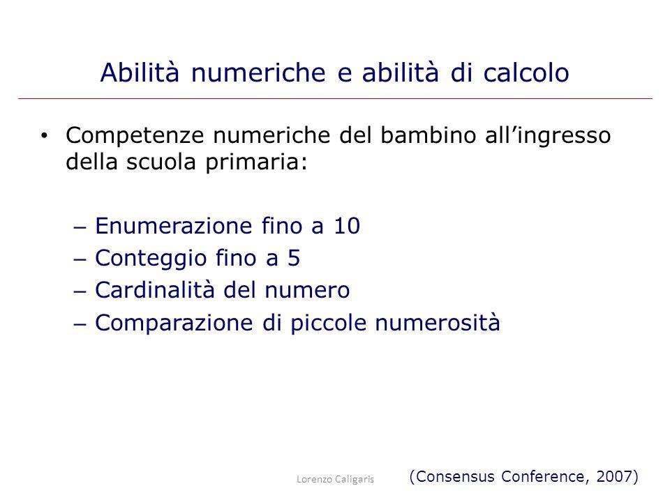 Abilità numeriche e abilità di calcolo