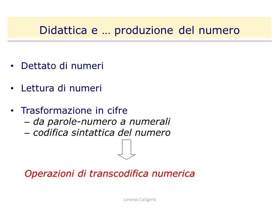 Didattica e … produzione del numero