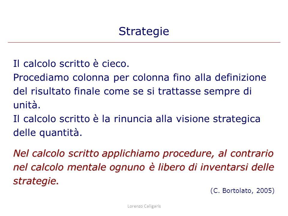 Strategie Il calcolo scritto è cieco.
