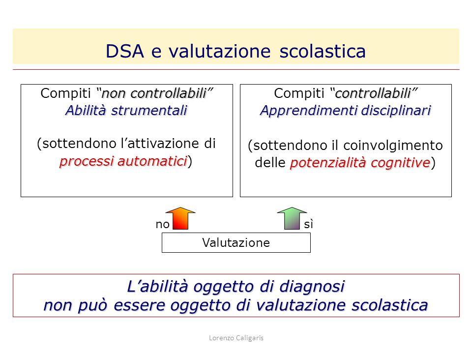 DSA e valutazione scolastica