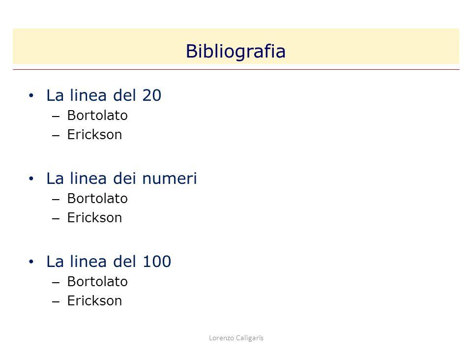 Bibliografia La linea del 20 La linea dei numeri La linea del 100