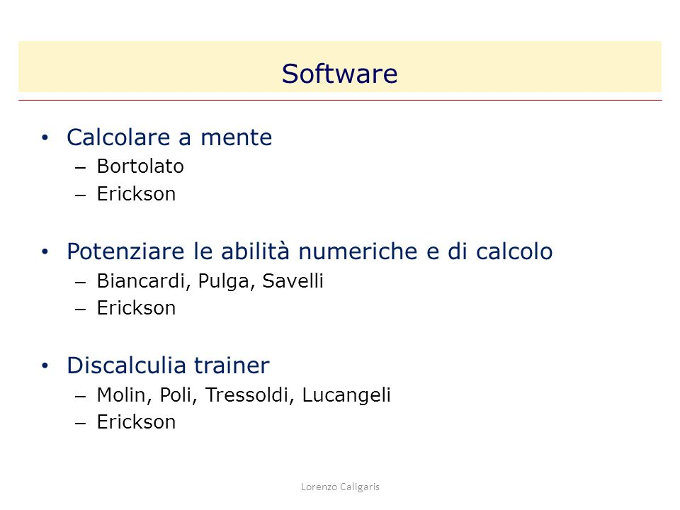 Software Calcolare a mente