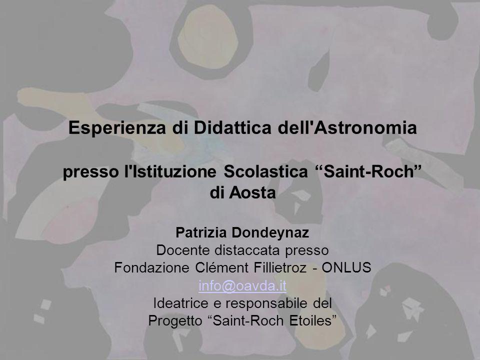 Esperienza di Didattica dell Astronomia