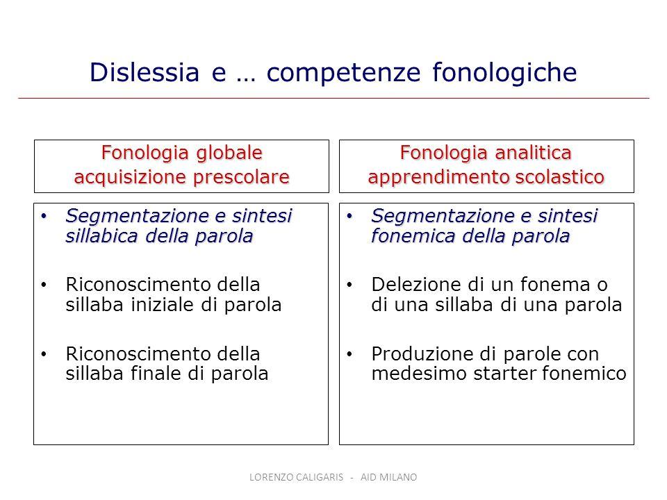 Dislessia e … competenze fonologiche