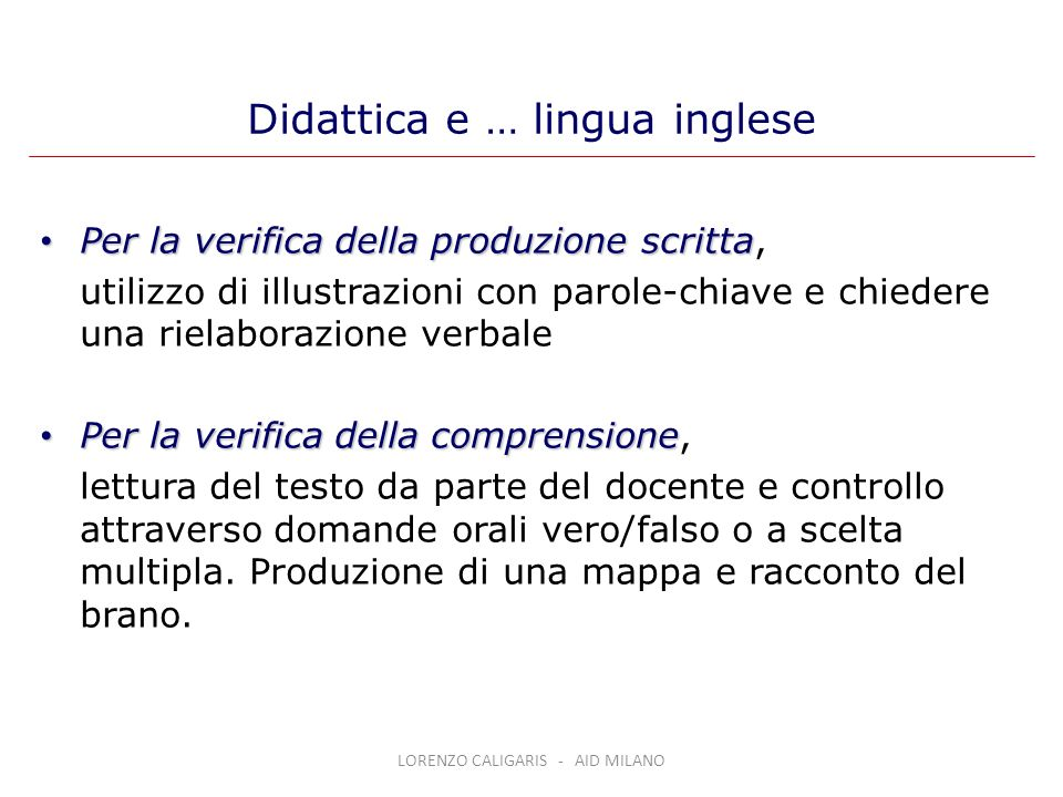 Didattica e … lingua inglese