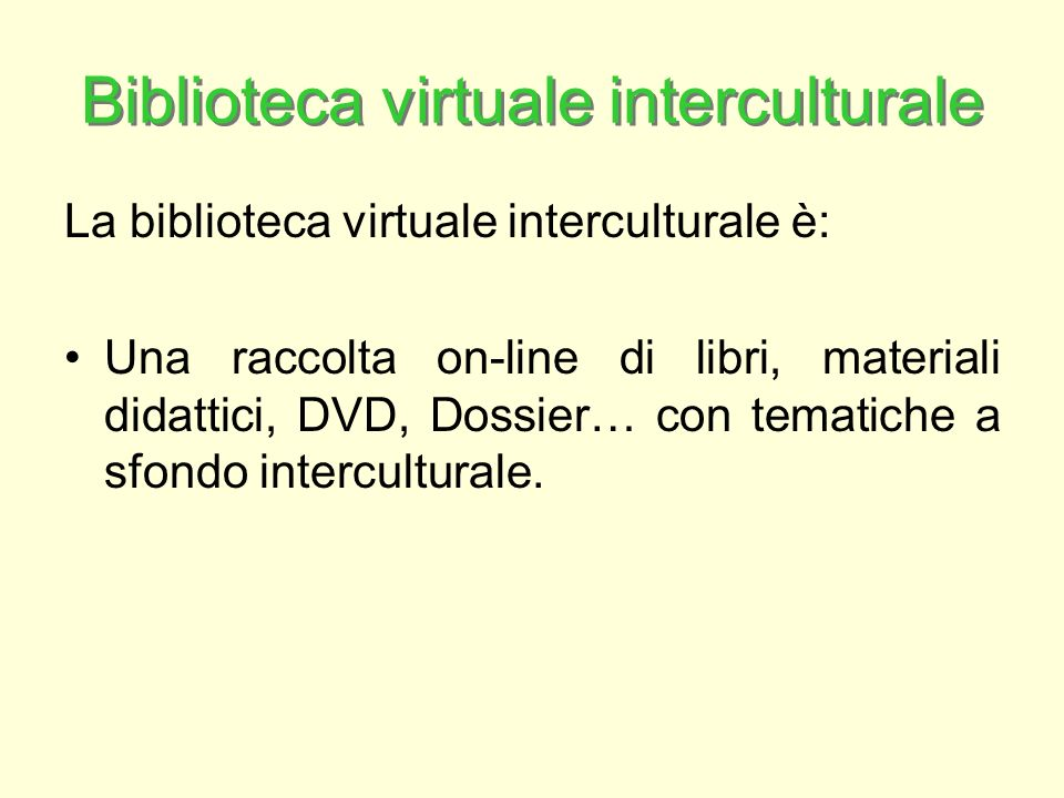 Biblioteca virtuale interculturale