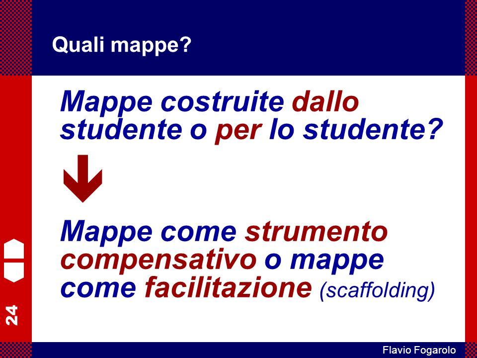  Mappe costruite dallo studente o per lo studente