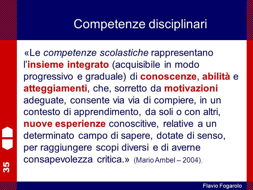 Competenze disciplinari