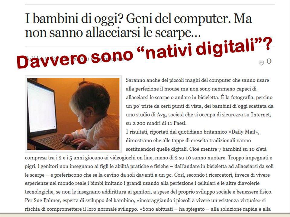 Davvero sono nativi digitali