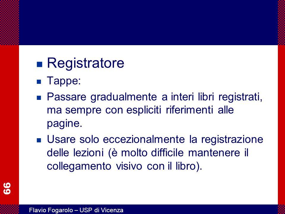 Registratore Tappe: Passare gradualmente a interi libri registrati, ma sempre con espliciti riferimenti alle pagine.