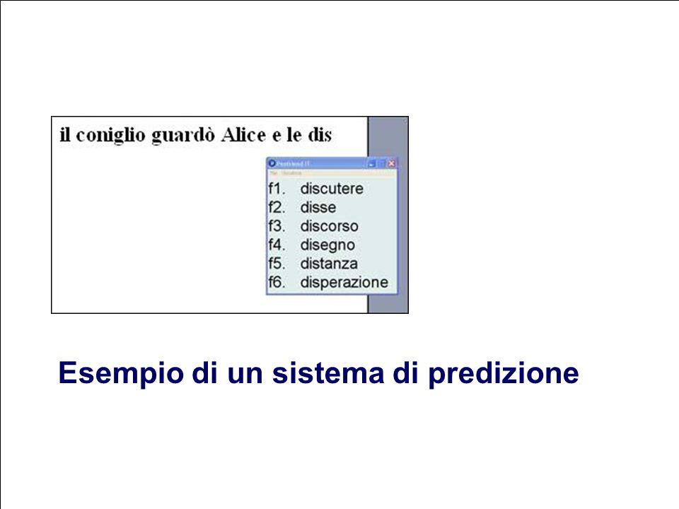 Esempio di un sistema di predizione