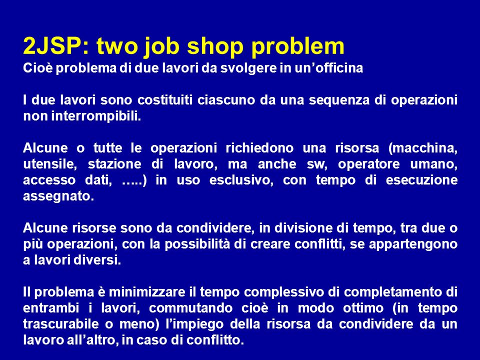 2JSP: two job shop problem
