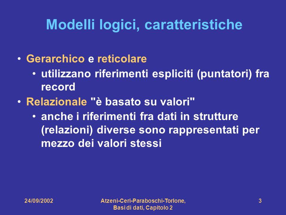 Modelli logici, caratteristiche