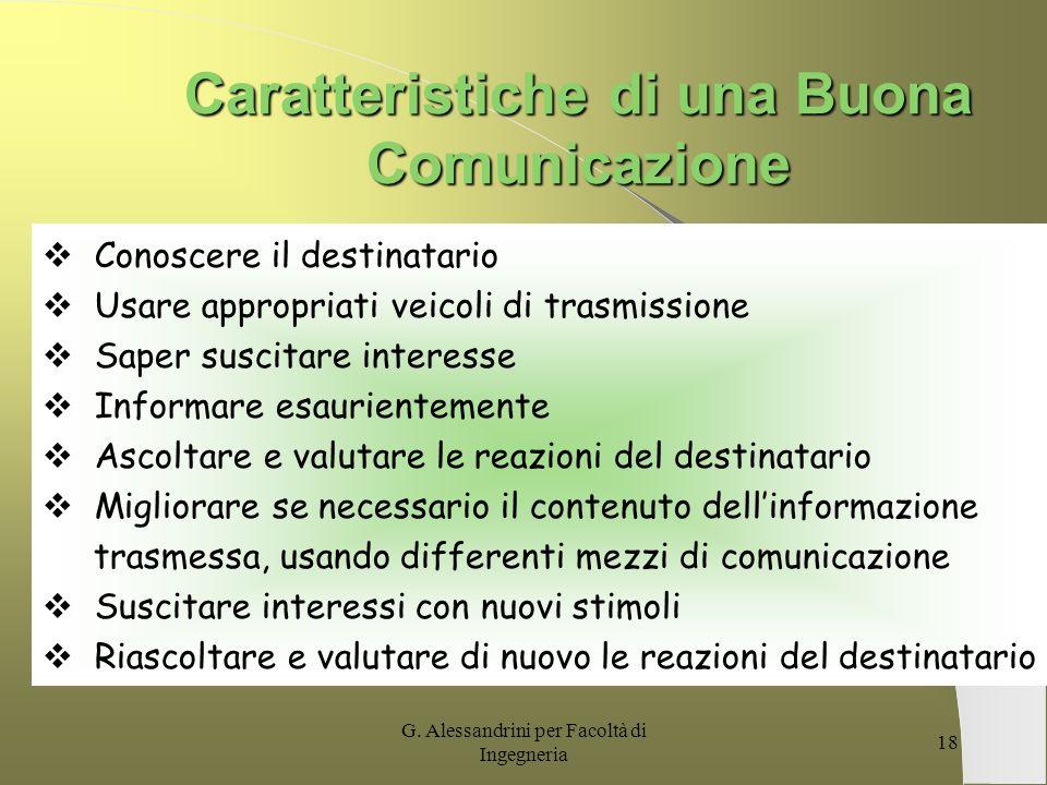 Caratteristiche di una Buona Comunicazione