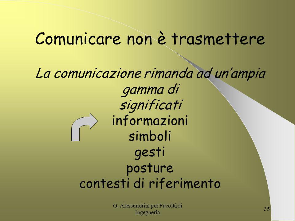 Comunicare non è trasmettere