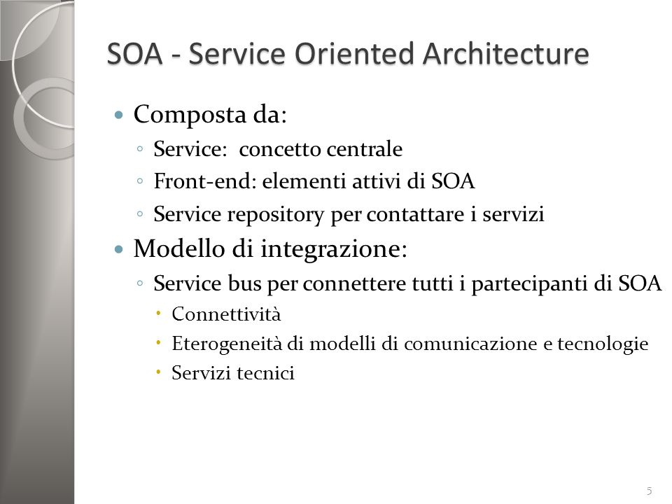 SOA - Service Oriented Architecture