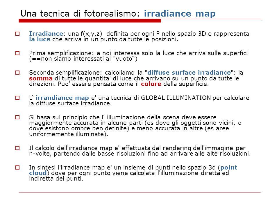Una tecnica di fotorealismo: irradiance map
