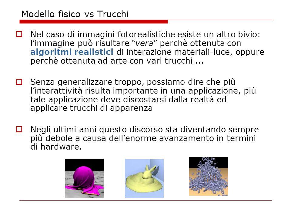 Modello fisico vs Trucchi