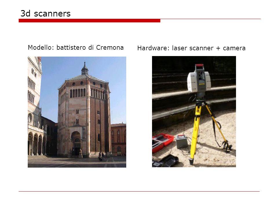 3d scanners Modello: battistero di Cremona