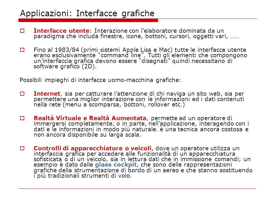 Applicazioni: Interfacce grafiche