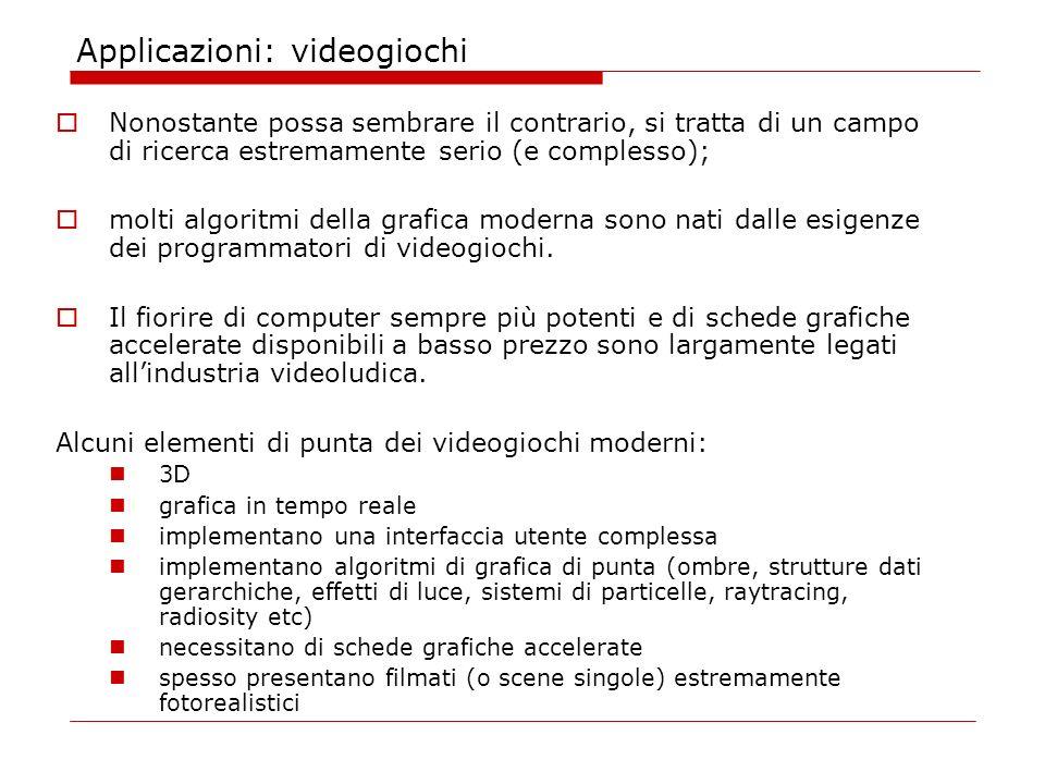 Applicazioni: videogiochi