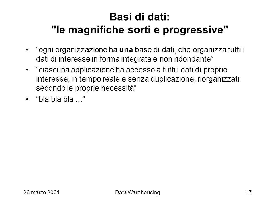 Basi di dati: le magnifiche sorti e progressive