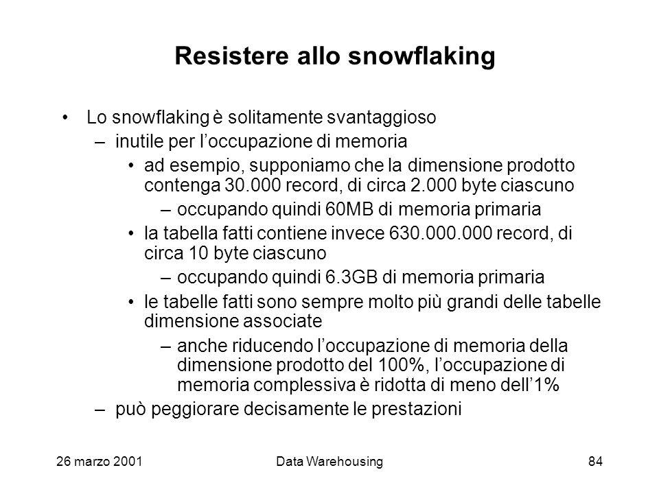 Resistere allo snowflaking