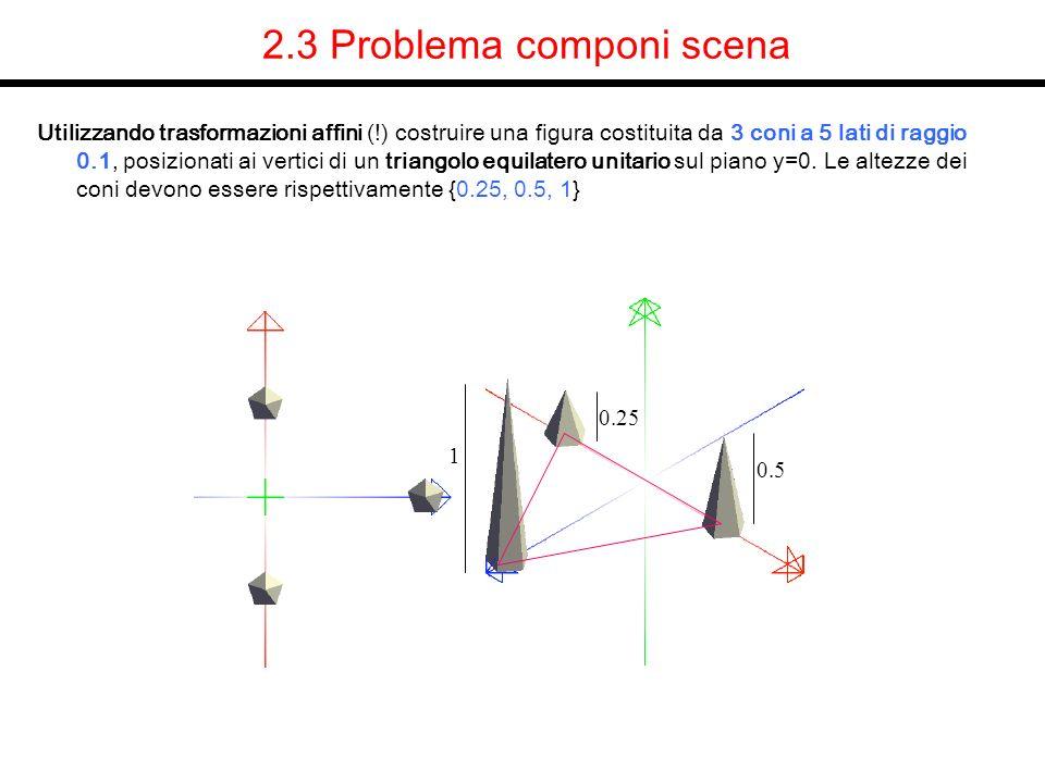2.3 Problema componi scena