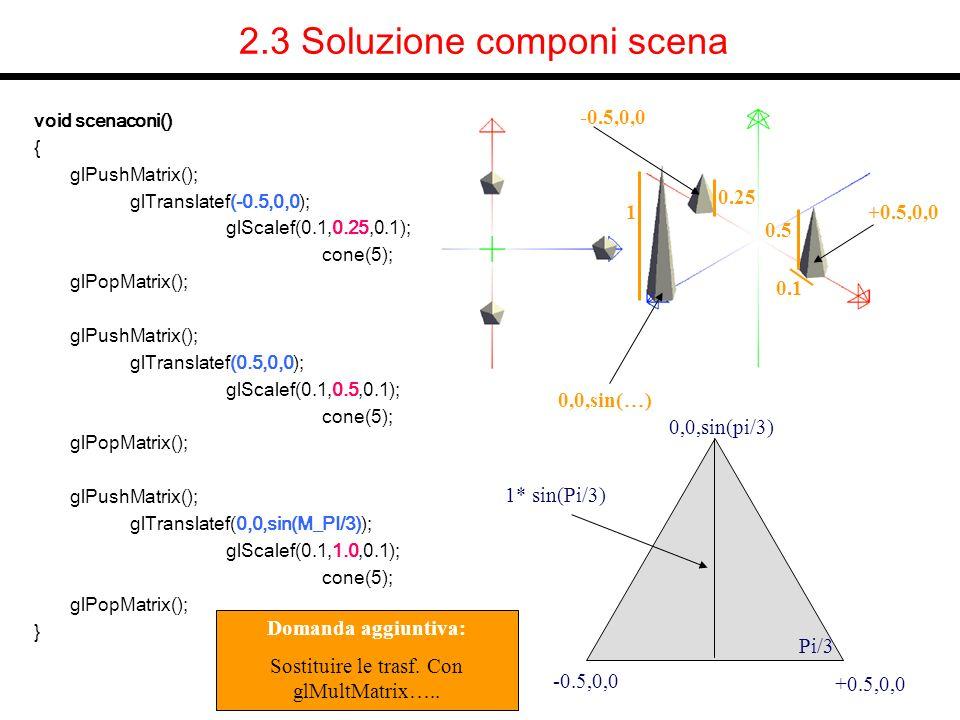 2.3 Soluzione componi scena