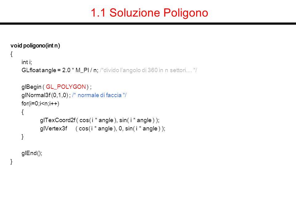 1.1 Soluzione Poligono void poligono(int n) { int i;