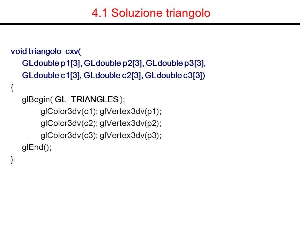 4.1 Soluzione triangolo void triangolo_cxv(