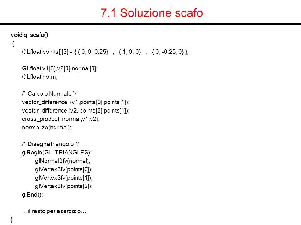 7.1 Soluzione scafo void q_scafo() {
