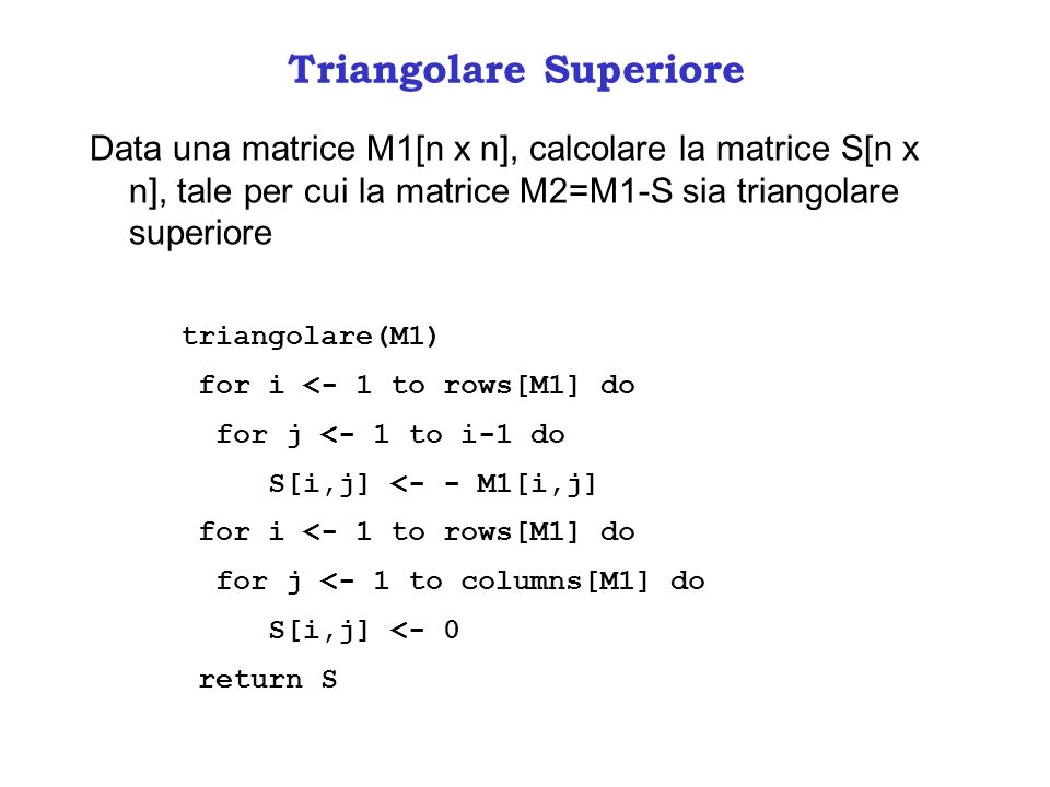 Triangolare Superiore