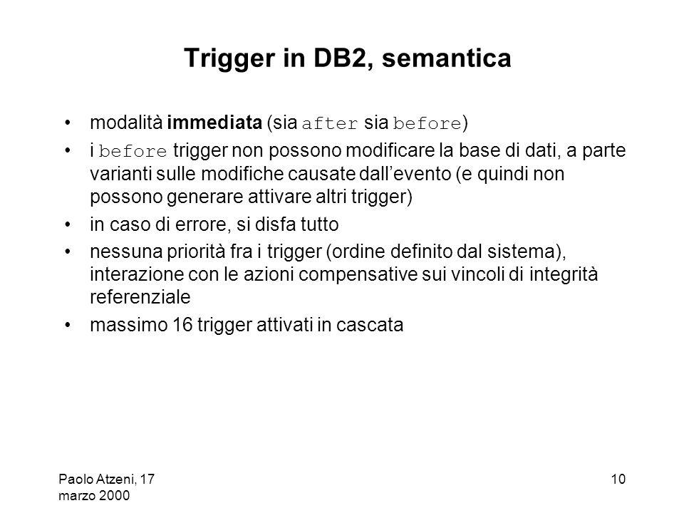 Trigger in DB2, semantica