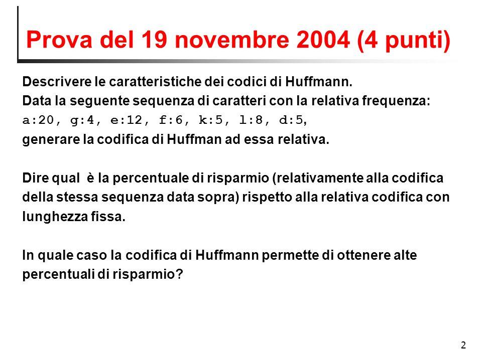 Prova del 19 novembre 2004 (4 punti)