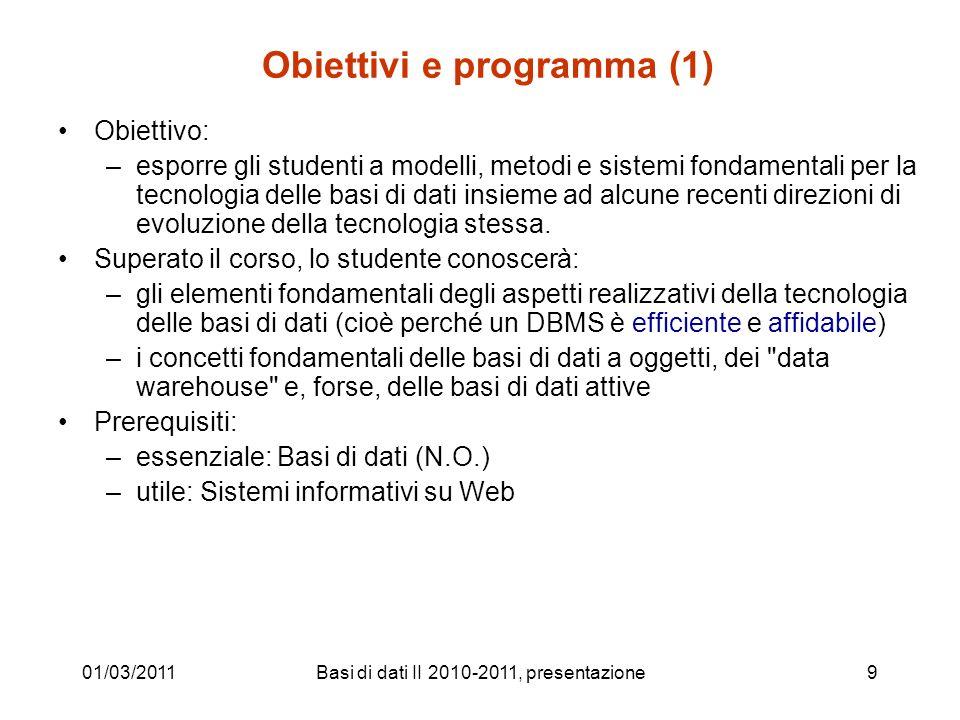 Obiettivi e programma (1)
