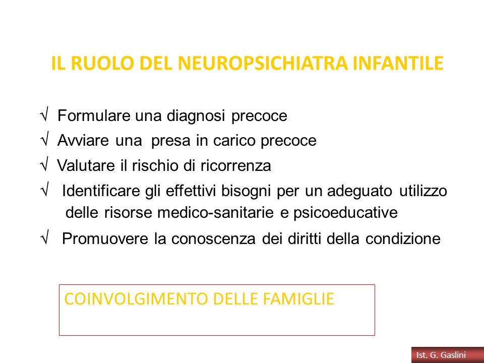 IL RUOLO DEL NEUROPSICHIATRA INFANTILE