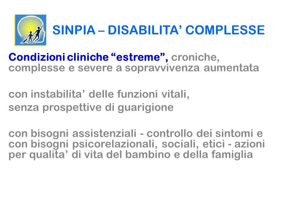 SINPIA – DISABILITA' COMPLESSE