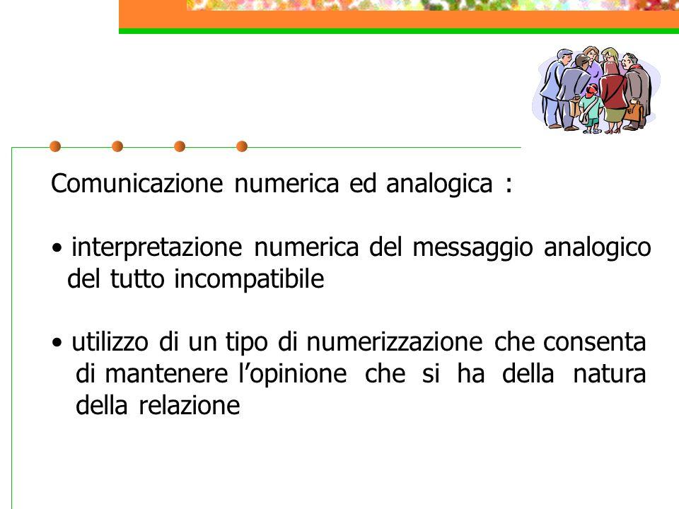 Comunicazione numerica ed analogica :