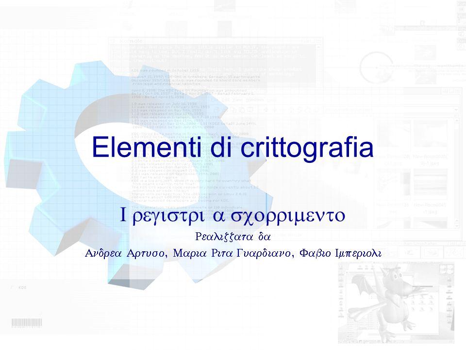 Elementi di crittografia